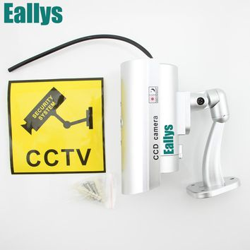 Waterproof Dummy CCTV Camera With Flashing LED Light For Outdoor or Indoor
