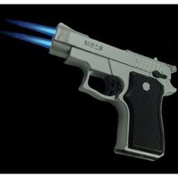 Twin Laser Flame Gun Torch Lighter #15