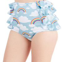 ModCloth 80s High Waist Eyes on the Skies Swimsuit Bottom