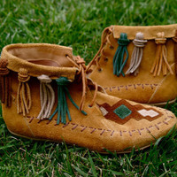 [ sold out ] Vintage Moccasins from the 80's by threegraysparrows on Etsy