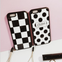 Simple Black Dot Case Cover for Apple iPhone 5s 5 SE 6 6S 6 Plus 6S Plus 11080501