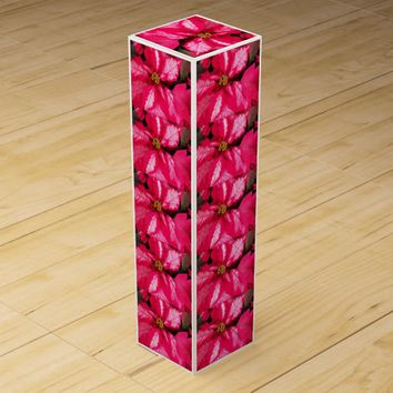 Pink Poinsettia Holiday Wine Gift Box