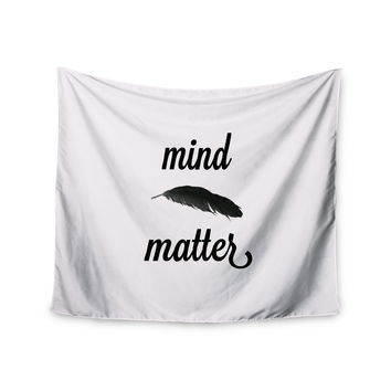 "Skye Zambrana ""Mind Over Matter II"" Black White Wall Tapestry"