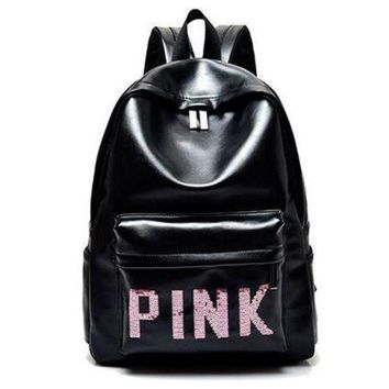 CREYNO PINK Victoria's Secret Fashion Sport School Bag Satchel Travel Bag Backpack