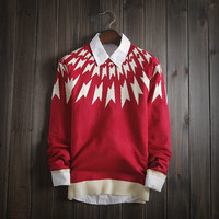 Fashion Men's Comfortable Soft Knitted Sweater