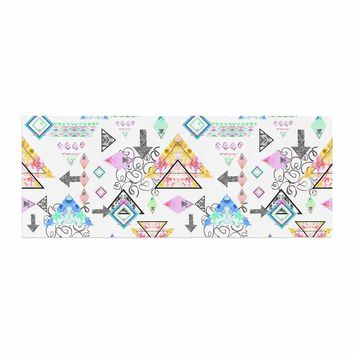 "Danii Pollehn ""Mixmatch"" Pink White Illustration Bed Runner"