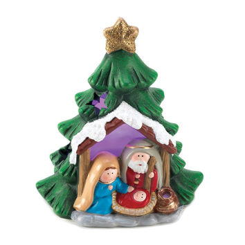 LIGHT-UP NATIVITY TREE DƒCOR