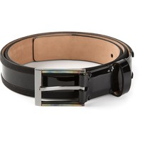 Lanvin varnished belt