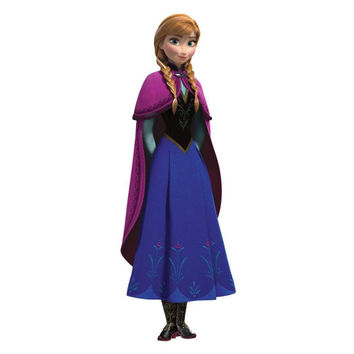 Princess Anna Cape Wall Accent Disney Frozen Stickers