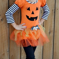 Black/White Striped Halloween Outfit Toddler/Girls