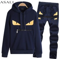 2017 Sportsuit Tracksuit Sweat Suit Sweatshirt Men Set jogger suits for men skateboard Chandal Sudaderas Hombre Homme 8865
