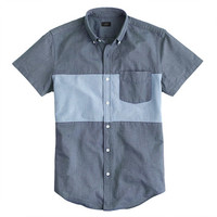 J.Crew Mens Short-Sleeve Pieced Vintage Oxford Shirt
