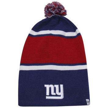 47 Brand New York Giants Dead Ringer Uncuffed Knit Beanie - Royal Blue/Red