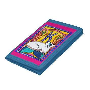 Peace And Love Cat Art Tri-fold Wallets