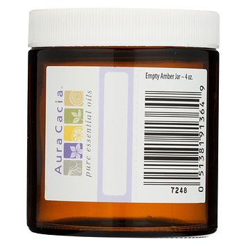 Aura Cacia Bottle - Glass - Amber - Wide Mouth With Writable Label - 4 Oz