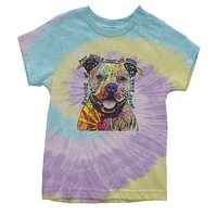 Beware Of Pit Bulls, They Will Steal Your Heart  Youth Tie-Dye T-shirt