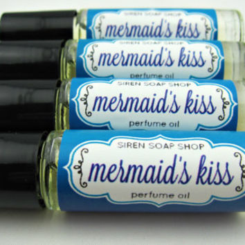 Mermaid's Kiss Perfume Oil, Perfume, Pineapple, Driftwood