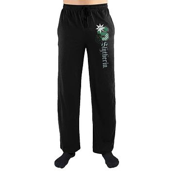 MPLP Harry Potter S Slytherin Logo Print Men's Loungewear Lounge Pants