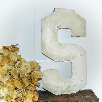 Antique Marquee Letter S Vintage Letter Metal Marquee S