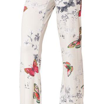 Butterfly Floral Jersey Pants