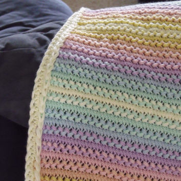 Handmade Crochet Baby Blanket Bright From Brendaalwaysstitchin On