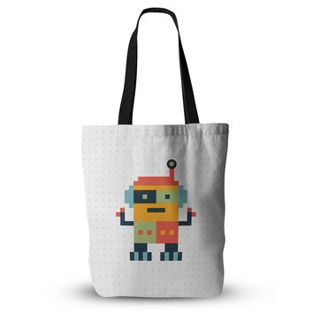 "Daisy Beatrice ""Happy Robot"" Multicolor Everything Tote Bag"
