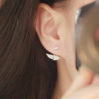 Feather Ear Jackets - Stud Earrings - PREORDER