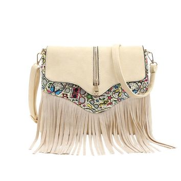 Women Messenger Handbags leather Fringe Tassel Bag Fashion women's shoulder bag bao bao #5M