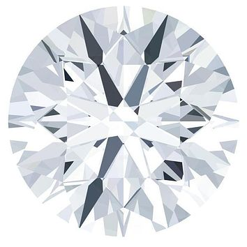 Certified Round Fire & Brilliance Loose Moissanite Stone - 1.00 Carats - E Color - VVS2 Clarity