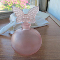 Chamart France pink butterfly perfume bottle vintage 1950s