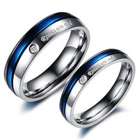 Her Ladies love end ring  Sterling silver Band For Wedding