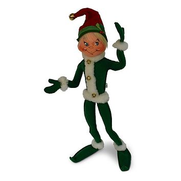 Annalee Dolls 14in 2018 Christmas Jinglebell Elf Green Plush New with Tags