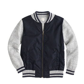 crewcuts Boys Cotton Baseball Sweater-Jacket