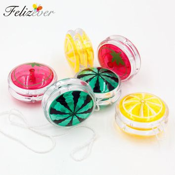 6 PCS Quality Classic Beginners Yo Yo's Party Toys Kids Fun Gift Goodie Bag Rewards Pinata Filler Fruit Green Yellow Red