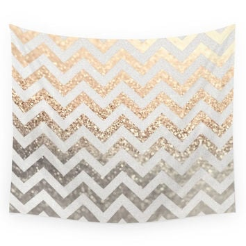 Society6 GOLD & SILVER Wall Tapestry