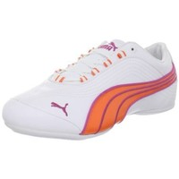 Puma Women`s Soleil FS Shoe,White/Vermillion Orange/Raspberry,9 B US