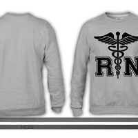 RN Registered Nurse crewneck sweatshirt