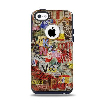 The Torn Newspaper Letter Collage V2 Apple iPhone 5c Otterbox Commuter Case Skin Set