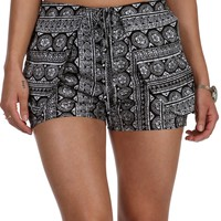 Black Boho Flow Shorts