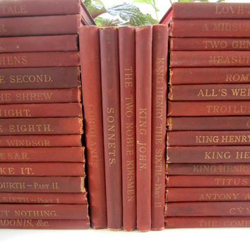 Antique Collection 35 Volumes of Shakespeare edited by William J. Rolfe