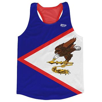 American Samoa Country Flag Running Tank Top Racerback Track and Cross Country Singlet Jersey