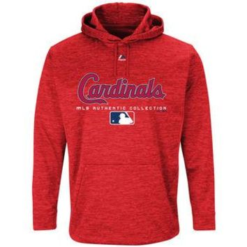 St Louis Cardinals Majestic MLB Red Ultra Streak Pullover Hoodie