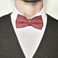 Red Corduroy Bow Tie