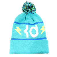 Nike Men's Kevin Durant KD Pom Cuff Teal Green/White Lighting Beanie Hat