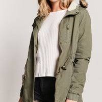 Faux Shearling-Lined Parka