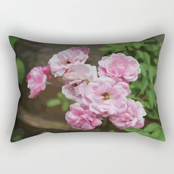 Romantic and Floral Rectangular Pillow by Paula Oliveira