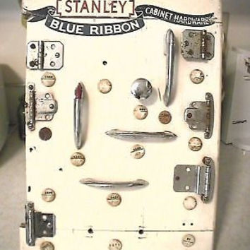 Vintage Stanley Tool Advertising Cabinet Hardware Store Display