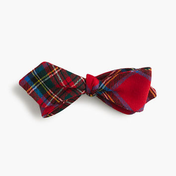 J.Crew Mens English Wool Bow Tie In Edward Tartan