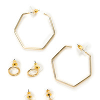 Time To Get In Shapes Earring Set