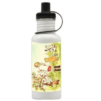 Gift Water Bottles | Winnie The Pooh Illustration Aluminum Water Bottles